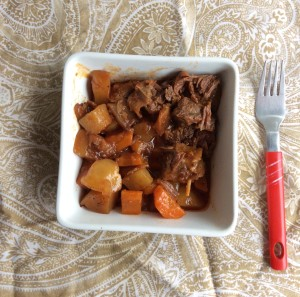 Slowcooked Beff and Potatoes