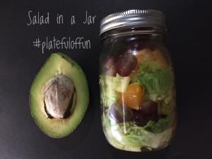 Salad in a Jar http://platefuloffun.com
